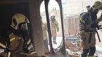 آتش سوزی خانه مسکونی در میدان بهاران تهران + عکس ها