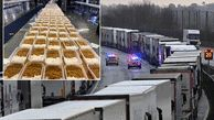 Heroes send food to hundreds of truckers still stranded in Dover at Christmas