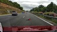 اقدام احمقانه یک راننده در اتوبان + فیلم