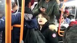 فیلم دست درازی به زن جوان توسط چند مرد در اتوبوس / واکنش جالب این زن